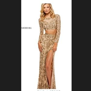 Sherri hill two piece prom dress
